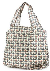Lilley Beige Owl Printed Shopper Bag