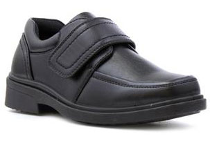 Beckett Boys Black Touch Fasten Formal Shoe