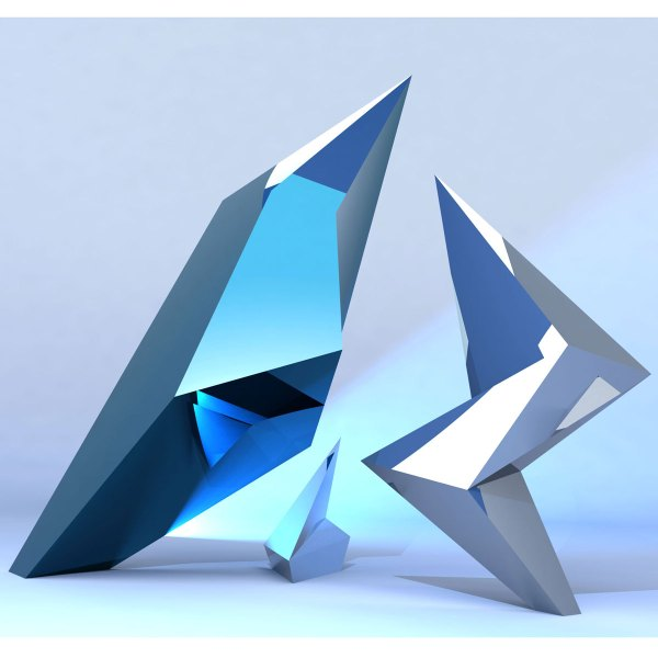 Jagged Contemporary Modern Interior Design Sculpture