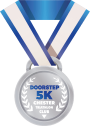 Chester Tri Doorstep 5K medal