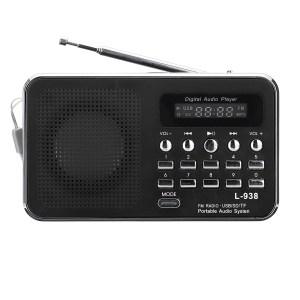 Portable FM 87.5-108MHZ 4.2V 4Ω Radio TF SD Card AUX Loop Play Speaker MP3 Music Player