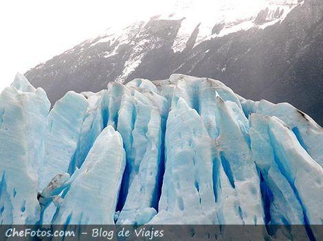 Tonos y formas del frente del glaciar