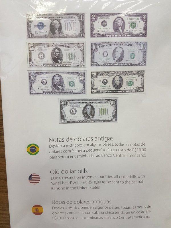No se pueden retirar REALES en efectivo de Cajeros en Brasil