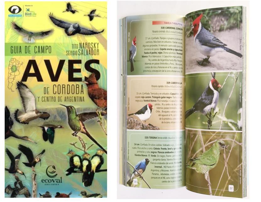 Libro aves de córdoba y centro del pais