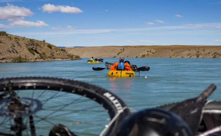 Bike rafting Rio Santa Cruz