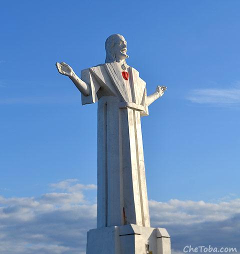 Foto del Cristo de Mar del Plata
