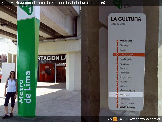 Tomar el metro a Villa María - Lima