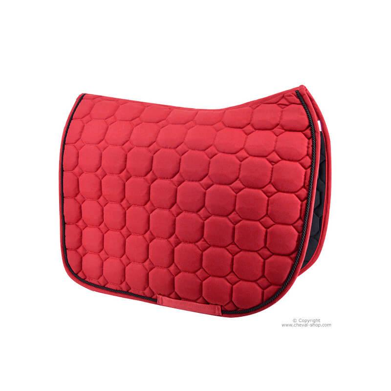 tapis de selle rouge dressage time rider
