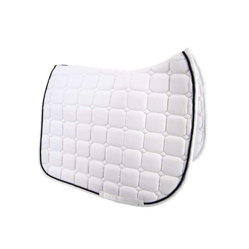 tapis de selle blanc dressage time rider