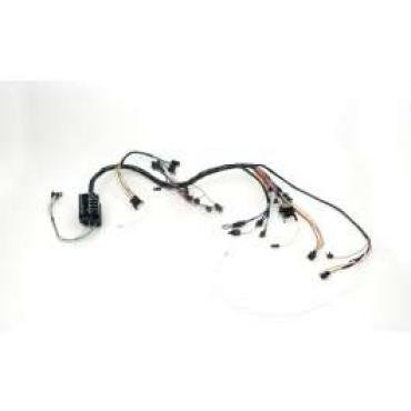 Chevelle Dash Wiring Harness, Main, For Cars With Warning