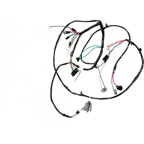 Chevelle Front Light Wiring Harness, For Cars With Warning