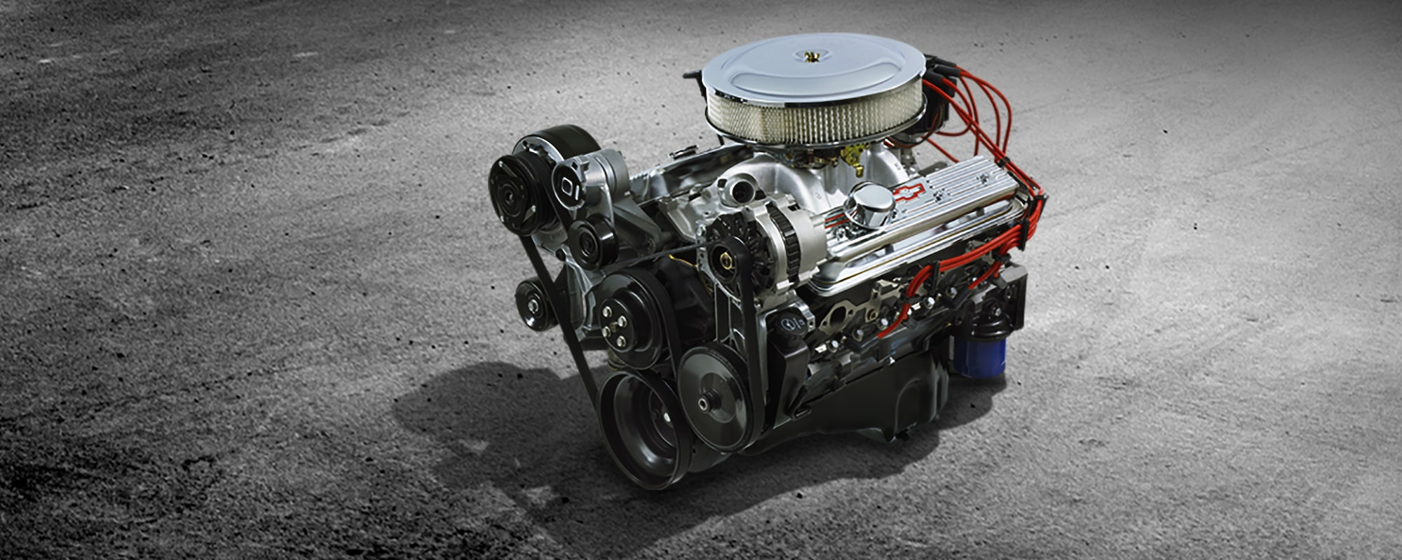 350 ho small block crate engine chevrolet performance 1977 chevy small block motor wiring [ 2500 x 1000 Pixel ]