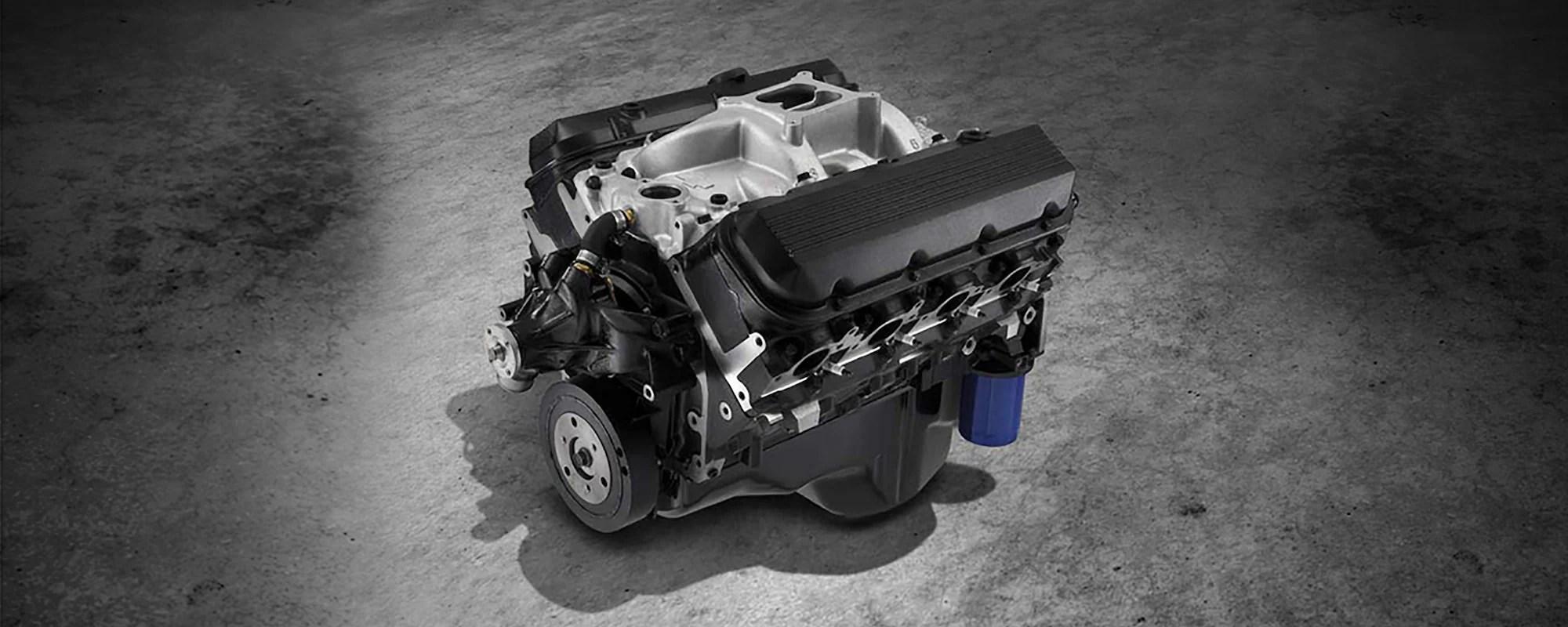 454 ho big block crate engine chevrolet performance 1995 chevy 454 vortec engine diagram [ 2500 x 1000 Pixel ]