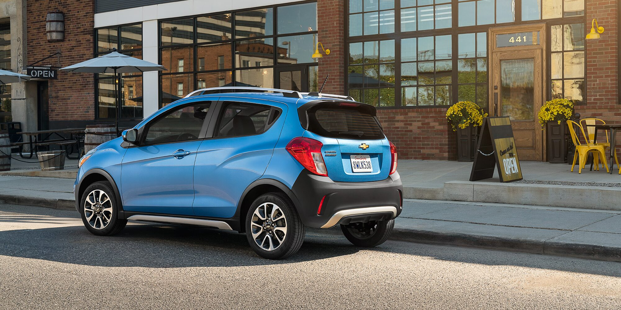 small resolution of chevrolet 2018 spark city car activ rear side profile