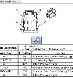 bcm basics 101 03 06 2006 suburban fuse panel diagram 2006 pt cruiser fuse diagram [ 1472 x 1061 Pixel ]