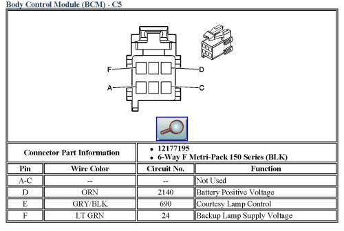 small resolution of body control module bcm c5