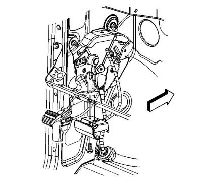 Park Brake Pedal Assembly and Brake Cable Replacement