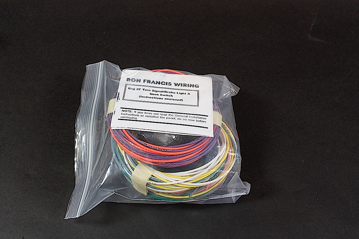 hight resolution of ron francis sent a box with several separate sections of our new harness packaged up for the install each bag is labeled with the circuit and includes
