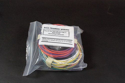 small resolution of ron francis sent a box with several separate sections of our new harness packaged up for the install each bag is labeled with the circuit and includes