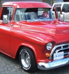 1957 chevy pickup [ 1440 x 670 Pixel ]