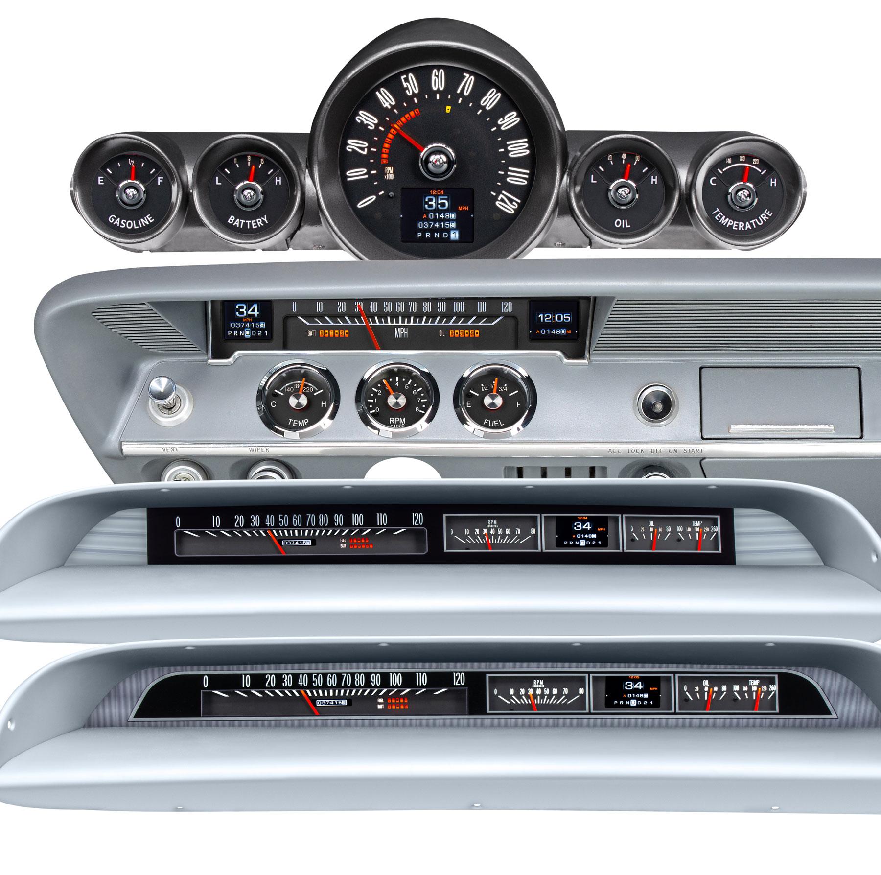 hight resolution of new dakota digital rtx gauges for your impala bel air or biscayne