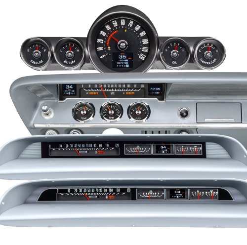 small resolution of new dakota digital rtx gauges for your impala bel air or biscayne