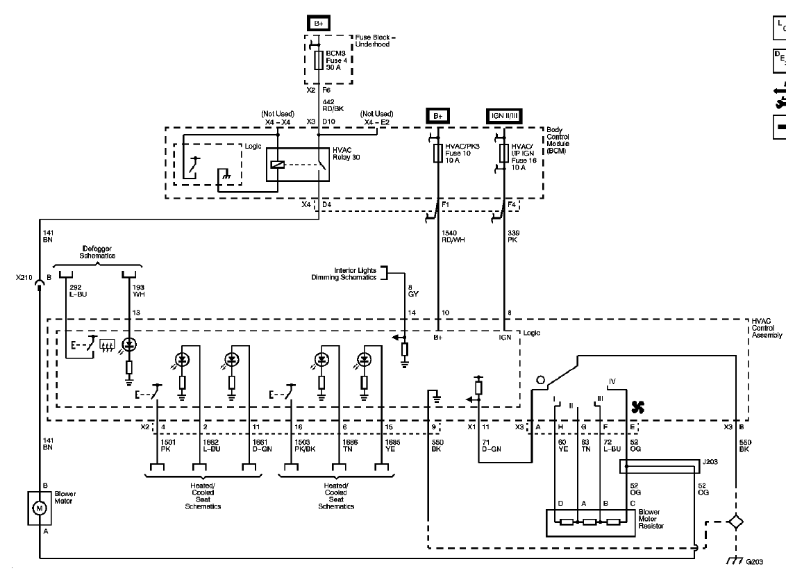 hight resolution of  chevy hhr fuse diagram locations heater fan no power blower png