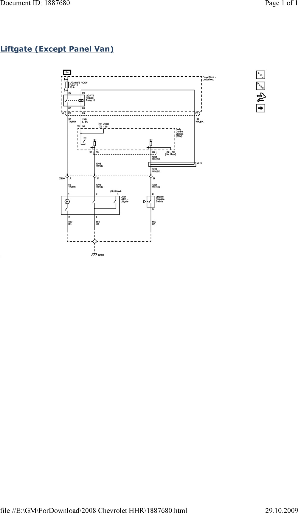 Chevrolet Hhr Electrical Diagrams • Wiring Diagram For Free