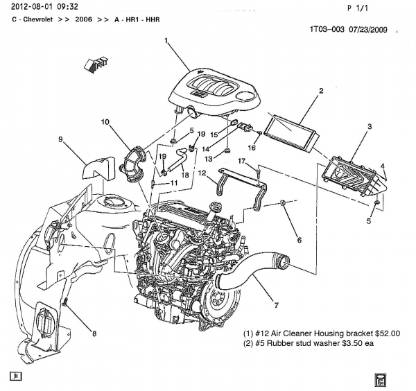 2006 Cobalt Engine Diagram 2007 Chevy HHR Engine Diagram