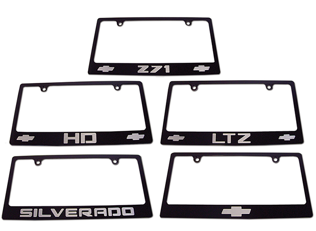 Chevy Tahoe License Plate Frame