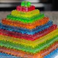 How To Make Gummy Candy Brick Pyramid - Chewable Structures