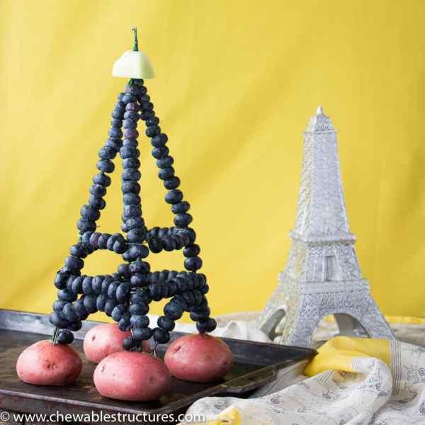 Make Eiffel Tower Fresh Blueberries