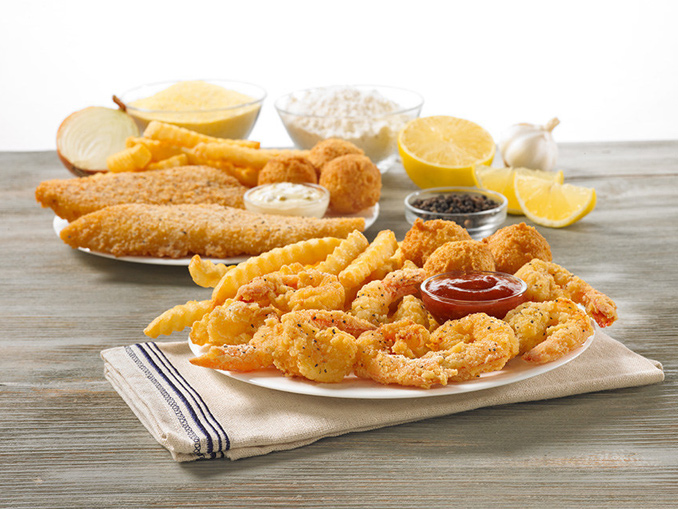 Lemon Seasoned Crispy Fish And Butterfly Shrimp Return To