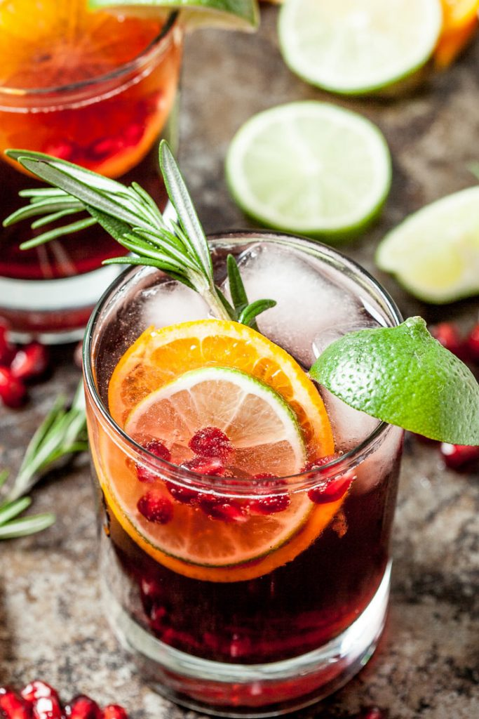 pomegranate punch sparkling punch holiday punch christmas punch party punch