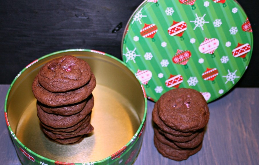 peppermint chocolate chip mocha cookie