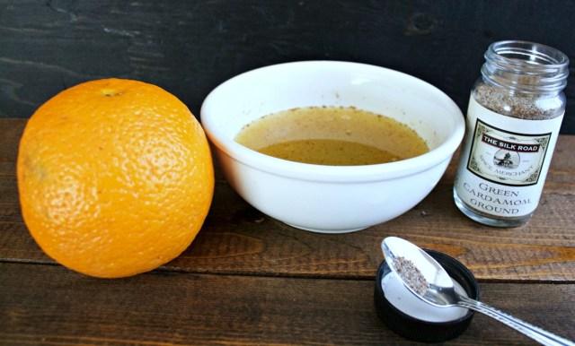 Orange Cardamom Chocolate No Churn Ice Cream