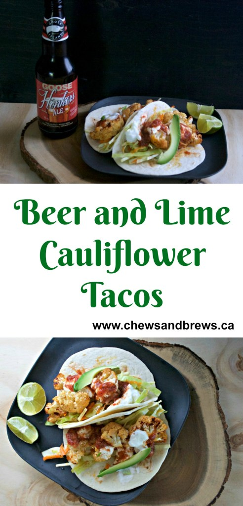 Beer and Lime Cauliflower Tacos