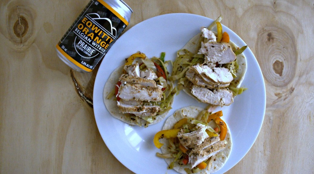 Orange Wheat Beer Chicken Fajitas