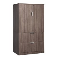Classic Locking Storage Cabinet Lateral File Combo ...