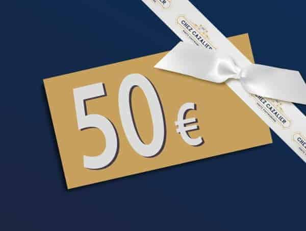 Carte Cadeau Chez Cazalier d'une valeur de 50€