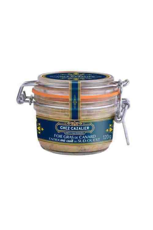 Foie gras de canard entier mi-cuit du sud-ouest 120 g