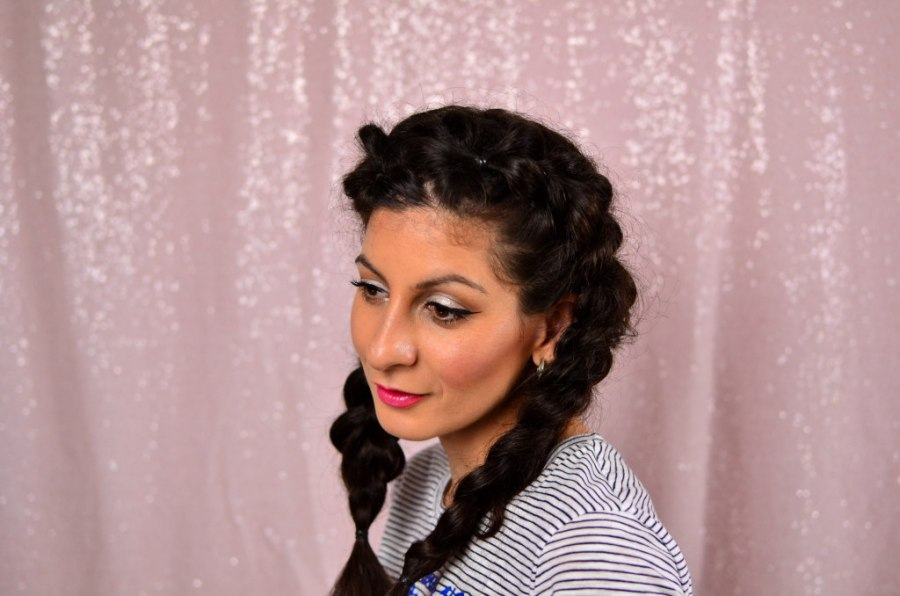 How to fake french braids for beginners