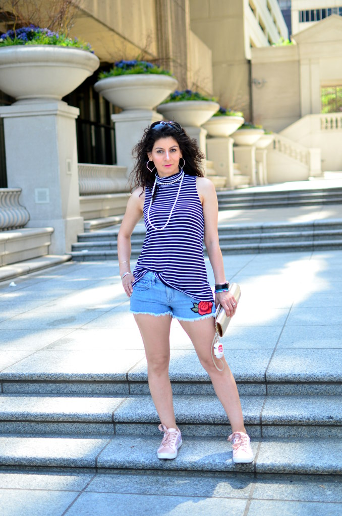 Your must have jeans shorts-Everyday casual outfit