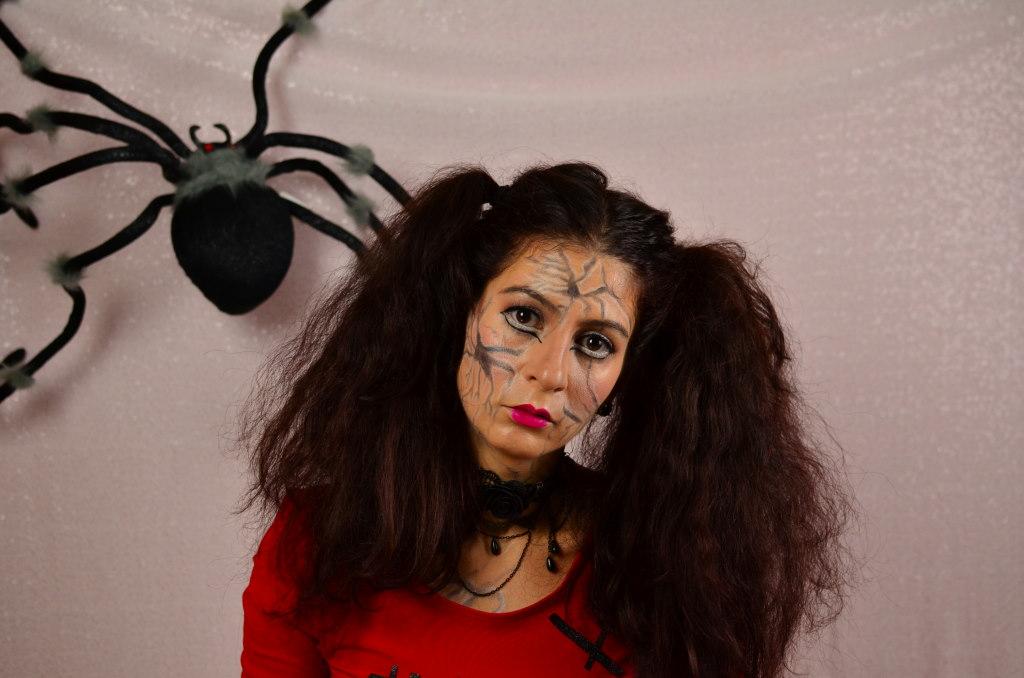 2 minutes halloween hair tutorial