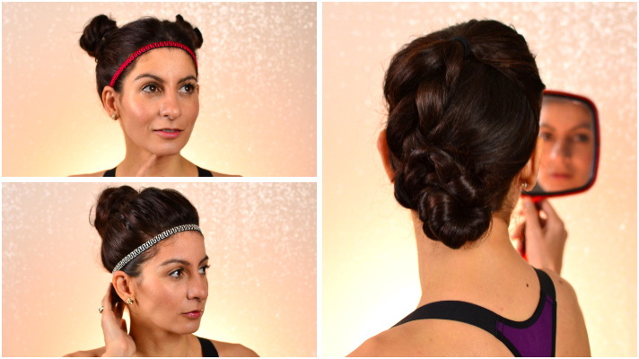3 quick and easy workout hairstyles