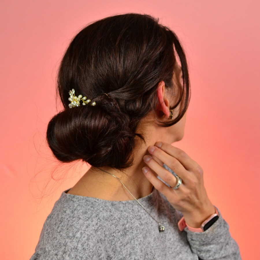 Lazy hairstyle to do at home-3 hairstyles for any hair|thanksgiving hairstyle Rolled up bun