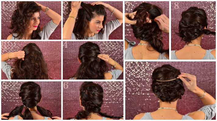 Lazy heatless hairstyles - 3 Holiday Hairstyles