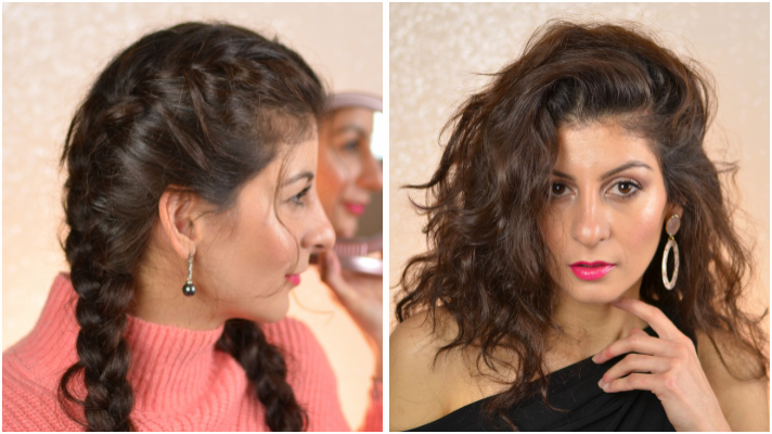 Double French Braids To A Beach Waves Hair From Day To A Night Out