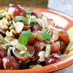 Grape, New Onion, Mint & Walnuts Salad