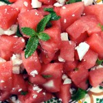 Watermelon, Spearmint & Feta Cheese Salad as always!